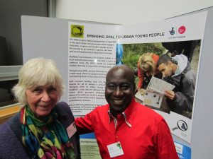 Maxwell Ayamba from Sheffield Environmental Movement meets Pat Wolseley - Lichen Expert at OPAL