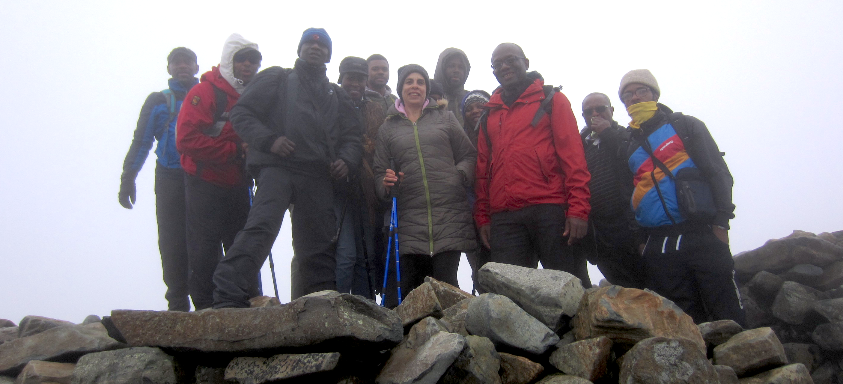 We Made It!  Walk for Health at Scafell Summit July 2017